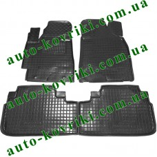 Резиновые коврики в салон Toyota Highlander 2008-2013 (Avto-Gumm)