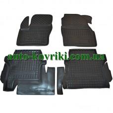 Резиновые коврики в салон Ford Transit Connect / Tourneo 2014- длинная база (Avto-Gumm)