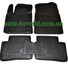 Резиновые коврики в салон Hyundai I10 2013- (Avto-Gumm)