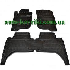 Резиновые коврики в салон Mitsubishi L200 2006-2013 (Avto-Gumm)