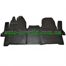 Резиновые коврики в салон Ford Tourneo Custom 2013- (1+1) (Avto-Gumm)