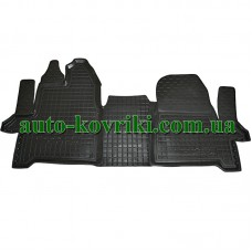 Резиновые коврики в салон Ford Tourneo Custom 2013- (1+2) (Avto-Gumm)
