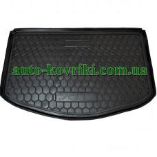 Коврик багажника резиновый Kia Soul 2013-2018  Нижняя Полка (Без Органайзер.) (Avto-Gumm)