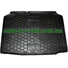 Коврик багажника резиновый Skoda Fabia II (MK2) 2007- (Хетчбэк) (Avto-Gumm)