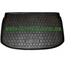 Коврик багажника резиновый Chevrolet Aveo 2011-2021 (T300) (Хетчбек) (Avto-Gumm)