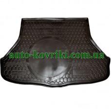 Коврик багажника резиновый Kia Cerato 2013- (MID / TOP) Седан (Avto-Gumm)