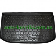 Коврик багажника резиновый Nissan Micra (4) 2010- (Avto-Gumm)