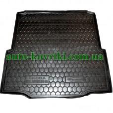 Коврик багажника резиновый Skoda SuperB II 2008- Liftback (Avto-Gumm)