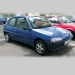 Автомобильные коврики для Peugeot 106 1991-2003