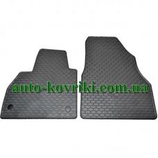 Резиновые коврики в салон Renault Kangoo 2008- (2шт.) (Doma)