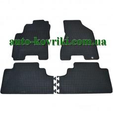 Резиновые коврики в салон Kia Sportage II 2004-2010 (Doma)