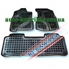 Резиновые коврики в салон Honda CR-V 2002-2007 (Rezaw-Plast)