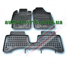 Резиновые коврики в салон Toyota Yaris III 2010-2014 3шт. (Гибрид) (Rezaw-Plast)