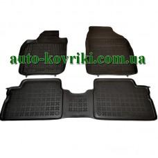 Резиновые коврики в салон Toyota Auris 2006-2012 (Rezaw-Plast)