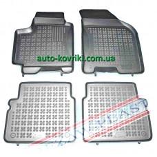 Резиновые коврики в салон Chevrolet Aveo 2002-2011 (Rezaw-Plast)