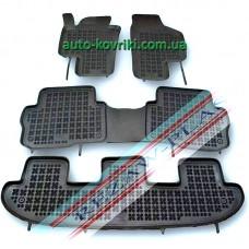 Резиновые коврики в салон VW Sharan 2010- (Rezaw-Plast)